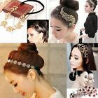 Multiple Style Lady New Crystal Hollow Wrap Cuff Hairband Headband Hairpin Combs