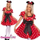 Ladies Minnie Mini Mickey Mouse Costume Halloween Hens Party Disney Fancy Dress