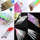 Acrylic Nail Art Design Brush Painting Dot Draw Pens Kit UV Gel Diy Decoration
