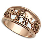 Ladies Elephant Caravan Rose Gold Plated Fashion Ring
