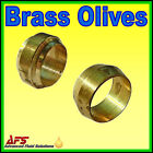BRASS Barrel & Stepped Olives, Metric or Imperial Tubing Nylon Pipe Compression