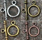 New 4Color Round Findings Toggle Clasps For Necklace Bracelet Jewelry Craft DIY