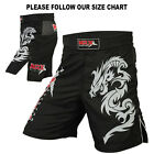 MRX MMA Shorts Grappling Shorts Fighter Cage Boxing Kick Short Dragon Black