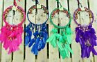Fair Trade Indonesian Glass Falling Leaf Garden Windchime Wind Chime Colours