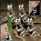 """DRAGON BELLY RING OR EARRING 14GA 3/8"""" CZ EYED DRAGON NAVEL CURVE PICK CZ COLOR"""
