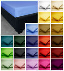 Poly Cotton Fitted Bed Sheets in plain Dyed Colours Single, Double, King