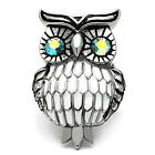 Huge Owl Color Eyes Silver Stainless Steel Ladies Ring New