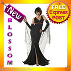 Ladies Gothic Vampire Immortal Seductress Scary Halloween Fancy Dress Up Costume