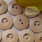 Natural Disc 2 Holes 23mm Wood Buttons Sewing Scrapbooking Craft C038