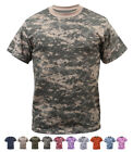 Digital Camo Tactical T-Shirt, Camouflage Military Tee Short Sleeve Army Tshirt image