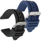 Silicone Rubber Watch Strap Band Black White Red Orange Blue 18mm 20mm 22mm