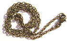 "Chain Necklace Handmade Antiqued Brass Steel ALL SIZES 16"" to 50""  -  5 or 1 Qty"