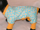 Golden Sunflower Dog PJS 4 leg Flannel pet Pajamas apparelTC  XS S S/M  M
