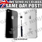 NEW Genuine Glass Replacement Back for Apple iPhone 4 4S Rear Battery Cover Case