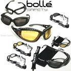 New BOLLE Tracker I Military Safety Goggles Outdoor Sunglasses 100% UV + Extras