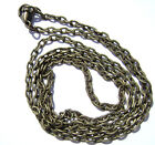 """Chain Necklace Handmade Antiqued Brass Steel ALL SIZES 16"""" to 50""""  -  5 or 1 Qty"""