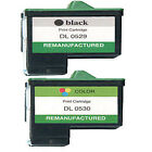 2 Dell T0529 & T0530 Printer Ink Cartridges Black/ Colour