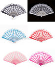 Fashion Chinese Wing Chun Style Dancing Fan Folding Lace Hand Fan,5 Colors