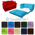 Fold Out 2 Seater Kids Teens Sofa Sofabed Guest Bed Futon Childrens Furniture