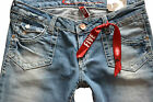 NEU EDC BY ESPRIT JEANS USED-JEANS STRETCH DAMEN FIVE STRAIGHT LOW RISE SLIM FIT