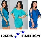 BRAND NEW SEXY WOMENS DRESS * DRAPPED TUNIC TOP * ZIRCONIC * OPEN SLEEVES * 5004