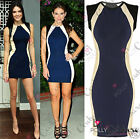 Womens Boutique Navy Tunic Basic Jersey Bodycon Ladies Tunic Short Party Dress