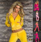 9500 NEW SEXY WOMENS FULL TRACKSUIT HOODIE POCKET LADIES SUIT SIZE 6  8 10 12 14