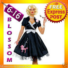 J50 Ladies 1950s Grease Bopper Poodle Hop Diva Sock Hop Fancy Dress Costume