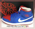 Nike Air Jordan 1 I Mid Royal Blue Gym Red White Detroit Pistons 554724-407 AJ1