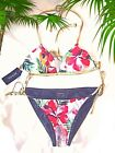 New GUESS Sexy LOLITA REVERSIBLE Triangle Swim Set $100 XS S Floral Hawaii Jeans $55.0 USD on eBay