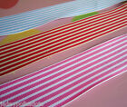 "Deckchair Stripe Grosgrain Ribbon - 38mm 1.5"" wide  - Red/Blue/Pink - May Arts"