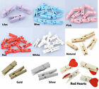 20 Wooden Mini Pegs 35mm in length - choose colour