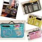 Hot Women Lady Handbag Purse Organizer Insert large Liner Cosmetic travel Bag