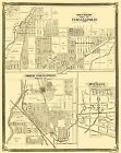 Old City Map - Indianapolis Indiana Landowner - 1876 - 23 x 29.06