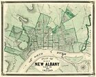 Old City Map - New Albany Indiana - 1876 - 28.81 x 23