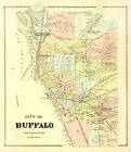 Historic City Maps - BUFFALO NEW YORK (NY) LANDOWNER MAP 1866