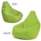 Bean Bag Chair Indoor/Outdoor Tall Gamer Beanbag Seat -  Adult and Kids Sizes