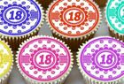 30 X HAPPY BIRTHDAY 18TH EDIBLE CUPCAKE TOPPERS PREMIUM RICE PAPER 1933 MIXED