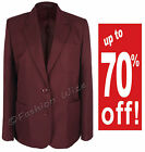 Ladies Maroon Burgundy Blazer Sizes 35 36 37 39 40 41 42 43 44 46 48 50 52