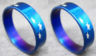 R075S fashion men/women Star blue stainless steel ring you pick size Hot New