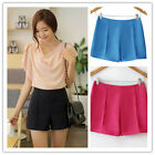 Women's Summer Vintage High Waist Shorts,Hot Korean Candy Colored Casual Culotte
