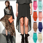 Sexy Elegant Women Girl Chiffon Asymmetric Long Maxi Skirt Elastic Waist Band