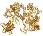 BULK Cord End Tip Fold Over Clasp Crimp Bead 3 SIZES 7 COLORS, 100 or 1000 Qty