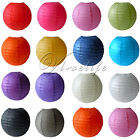 "5 Round Paper Lanterns Lamp Wedding Birthday Party Decoration 8"" 10"" 12"" 14"""