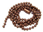 "Necklace Ball Chain 2.4mm  Antiqued Copper plated Brown 16"" to 28"" 1 or 5 Qty"