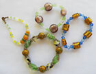 4 LAMPWORK Foil  BRACELET Sparkly Stretchy NICE ASSORTMENT  Free Ship #T