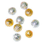 200pcs Gold/Silver Plated Filigree Hollow round sphere spcer Beads 6mm8mm12mmSB