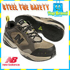 NEW BALANCE 627 SAFETY SHOE STEEL CAP TOE WORK BOOT BROWN SLIP RESIST 2E