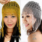 Belly Dance Beaded Tassel Stretchy Hat Headgear Cap Dancing Costume Headpiece