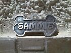 Custom made Dog-cat collar's ID tag-double sided, carved/engraved aluminium